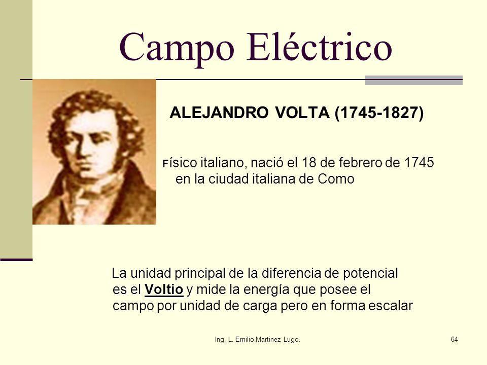 Campo Eléctrico ALEJANDRO VOLTA (1745-1827)