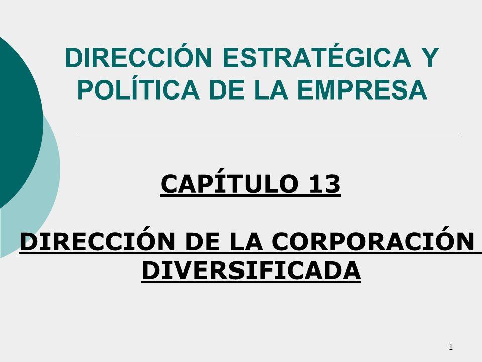 DIRECCIÓN ESTRATÉGICA Y POLÍTICA DE LA EMPRESA