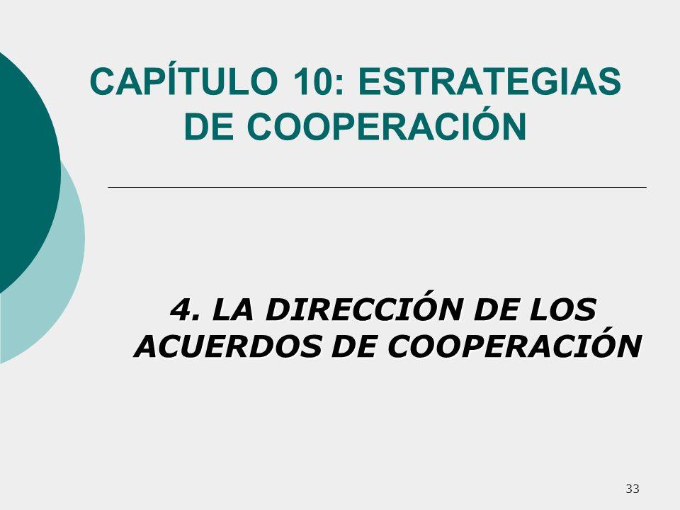 CAPÍTULO 10: ESTRATEGIAS DE COOPERACIÓN