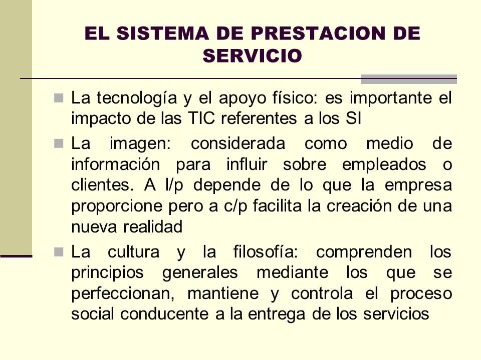 EL SISTEMA DE PRESTACION DE SERVICIO