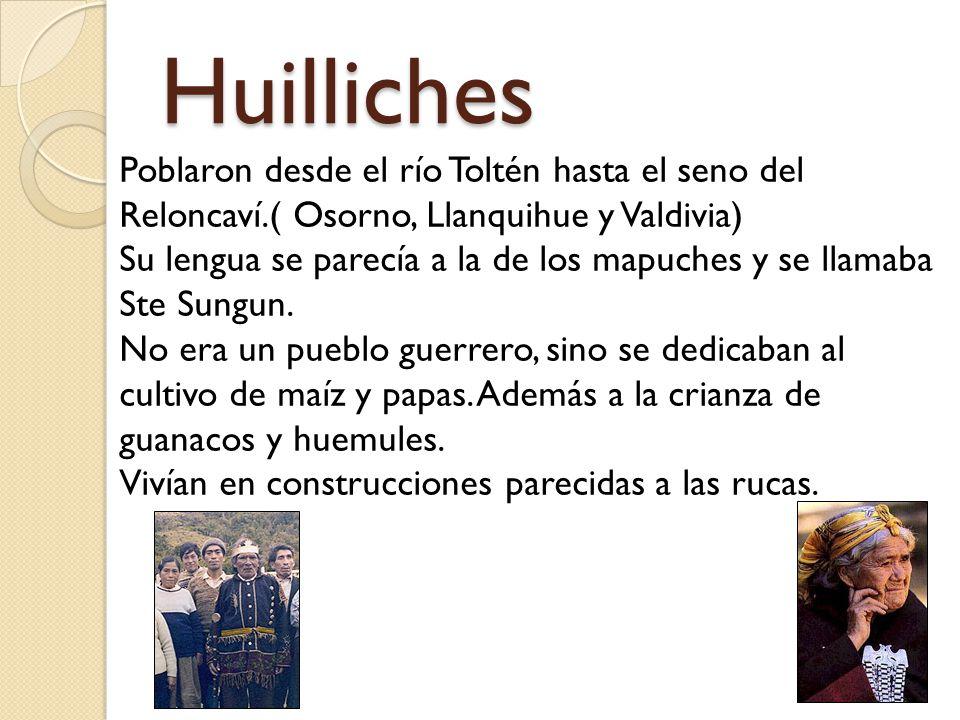 Huilliches Poblaron desde el río Toltén hasta el seno del Reloncaví.( Osorno, Llanquihue y Valdivia)