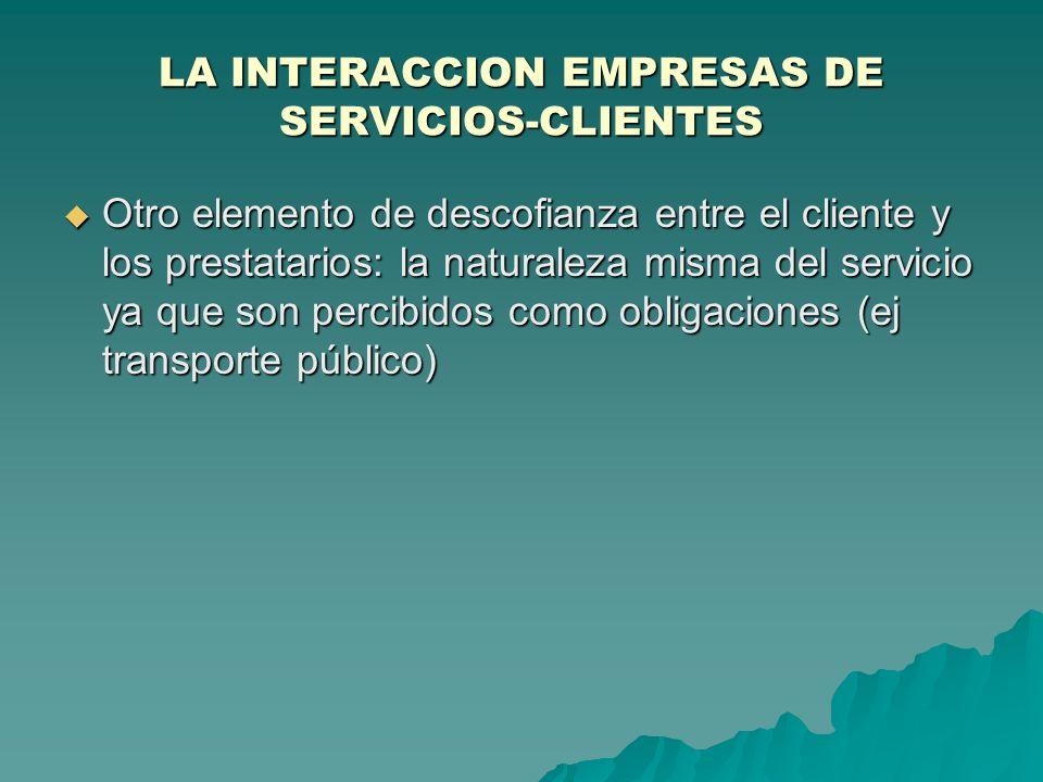 LA INTERACCION EMPRESAS DE SERVICIOS-CLIENTES