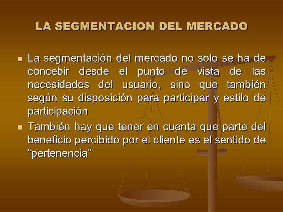 LA SEGMENTACION DEL MERCADO