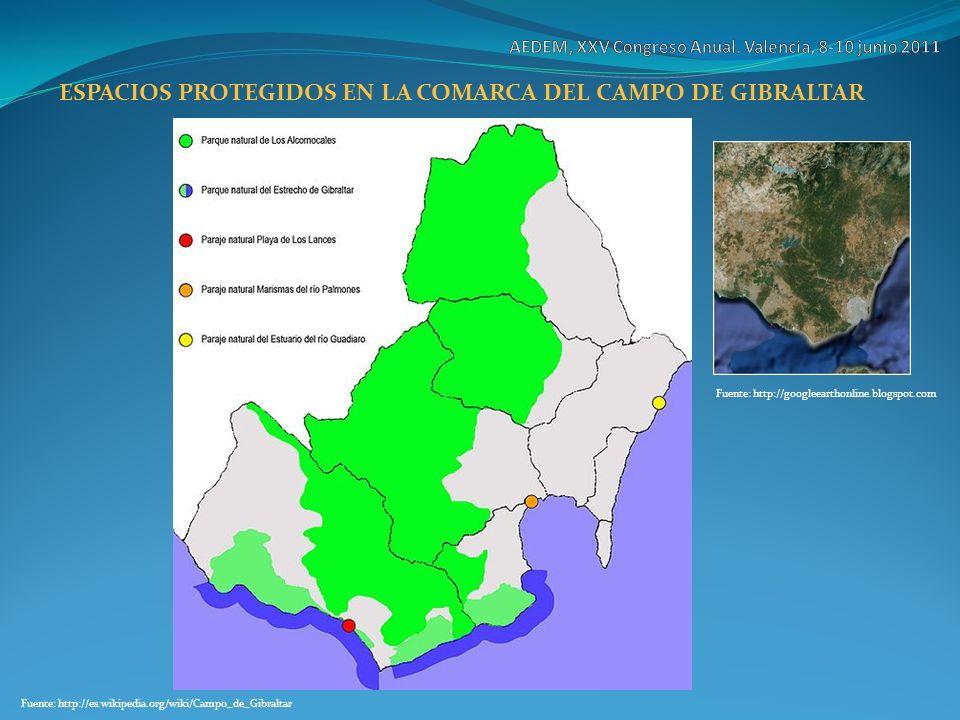 ESPACIOS PROTEGIDOS EN LA COMARCA DEL CAMPO DE GIBRALTAR