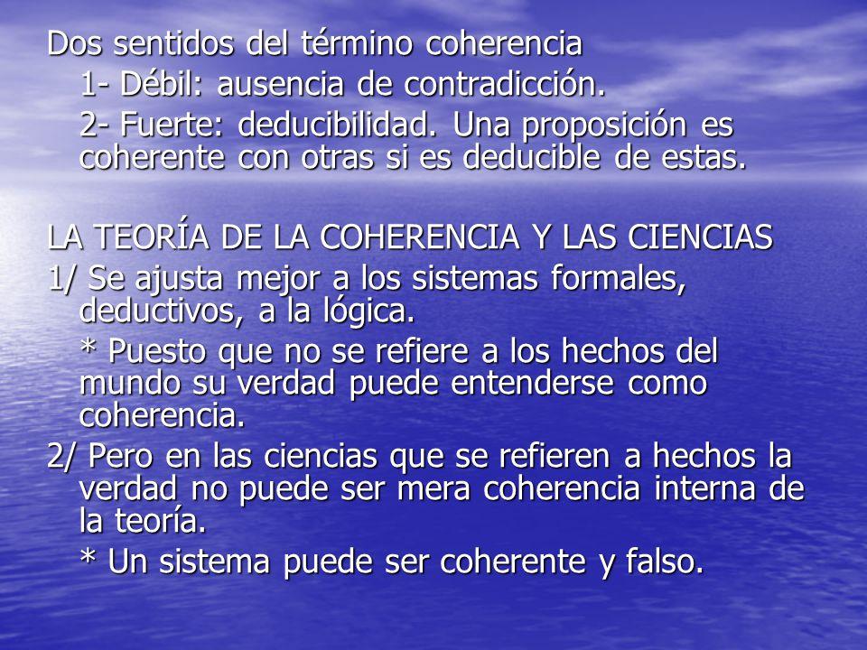 Dos sentidos del término coherencia