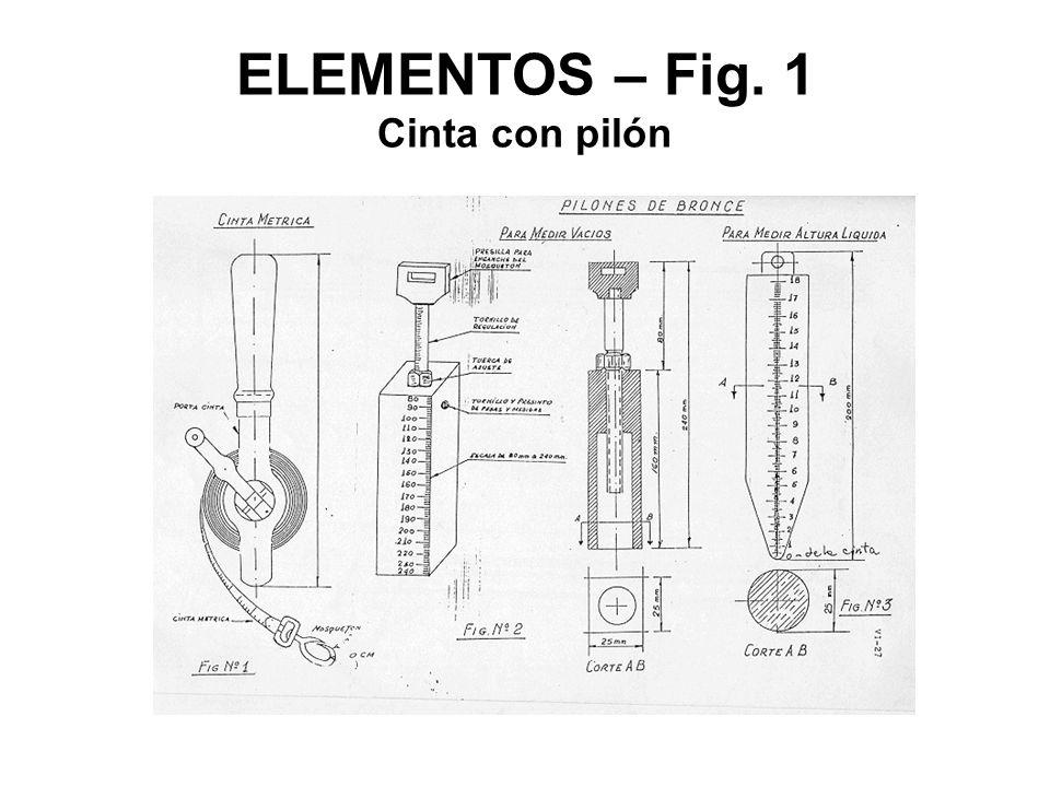ELEMENTOS – Fig. 1 Cinta con pilón