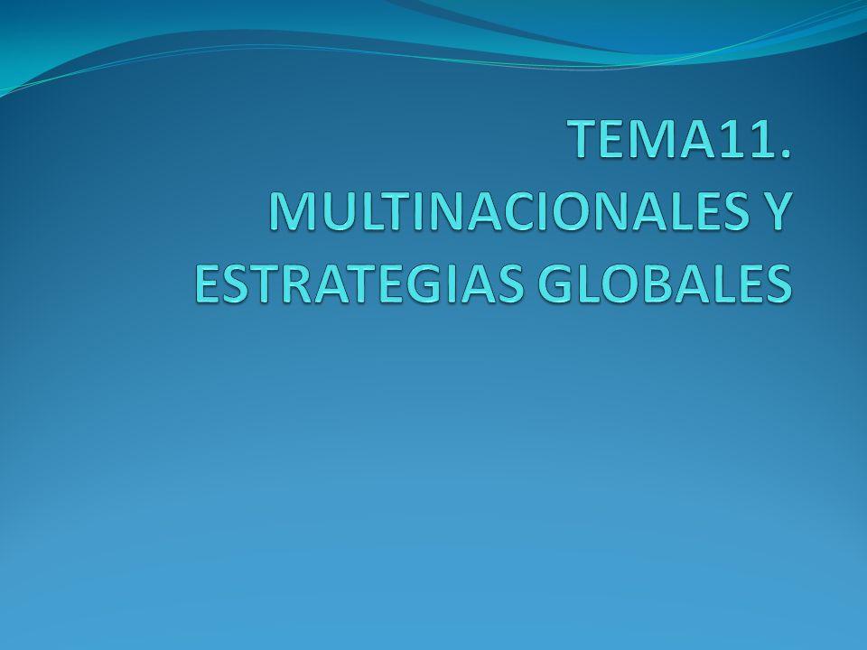 TEMA11. MULTINACIONALES Y ESTRATEGIAS GLOBALES