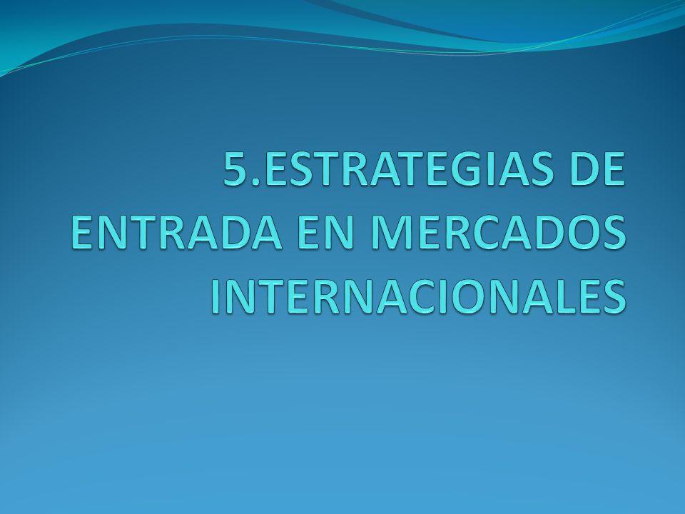 5.ESTRATEGIAS DE ENTRADA EN MERCADOS INTERNACIONALES