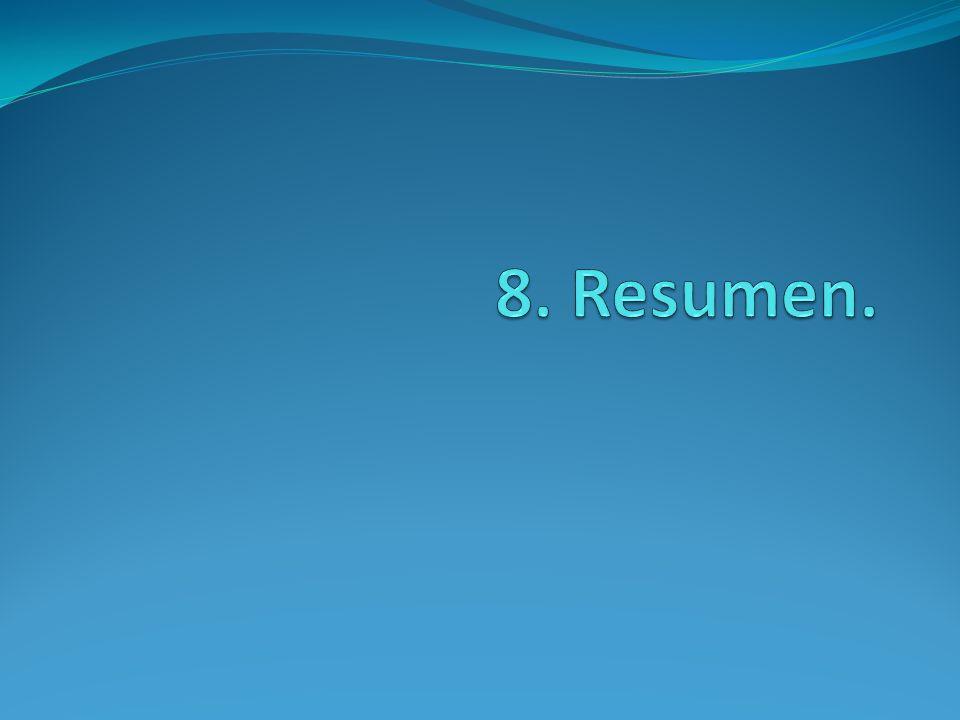 8. Resumen.