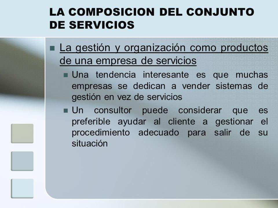 LA COMPOSICION DEL CONJUNTO DE SERVICIOS