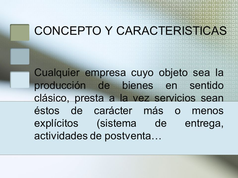 CONCEPTO Y CARACTERISTICAS