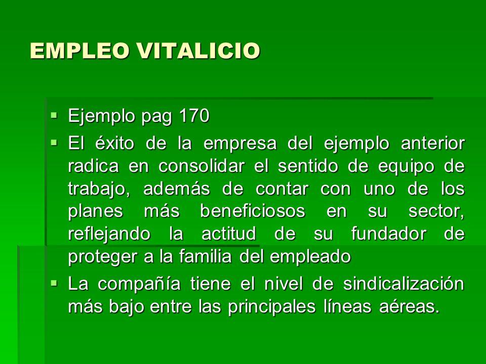 EMPLEO VITALICIO Ejemplo pag 170