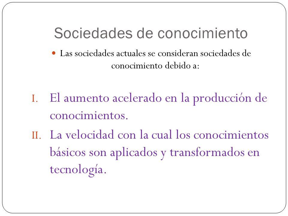 Sociedades de conocimiento