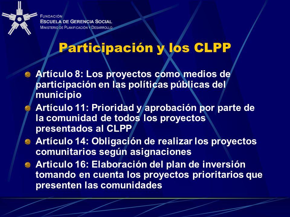 Participación y los CLPP