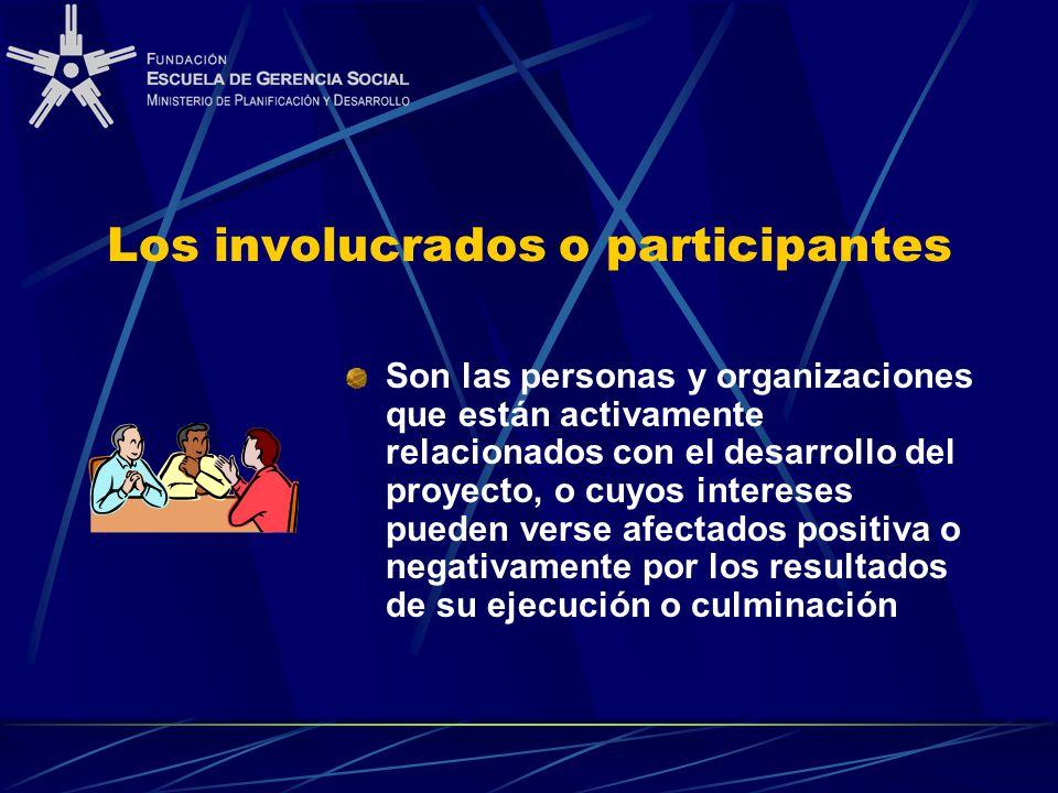 Los involucrados o participantes