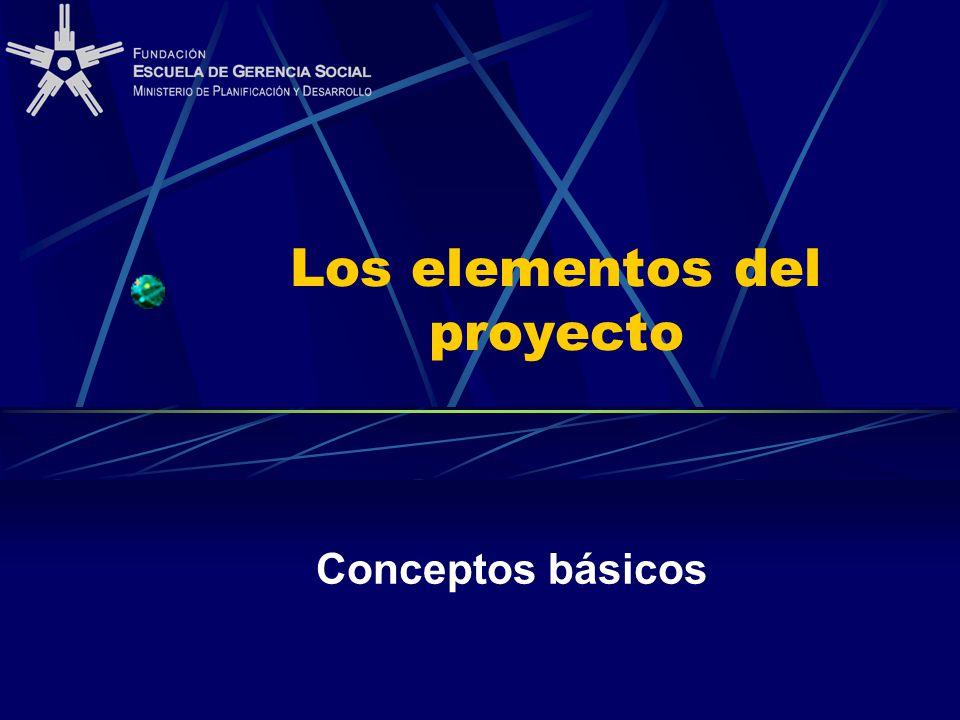 Los elementos del proyecto