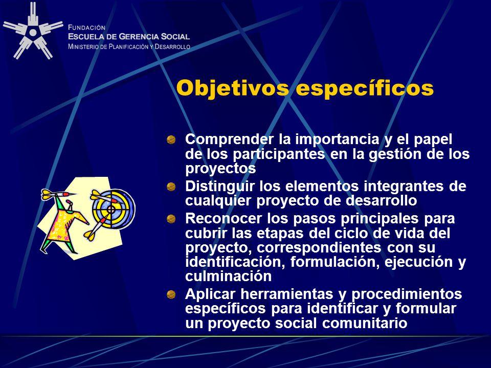 Formulaci n y evaluaci n de proyectos sociales for Proyecto social comedor comunitario