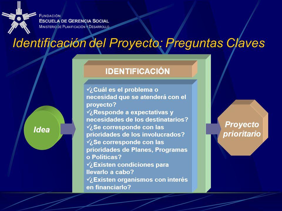 Identificación del Proyecto: Preguntas Claves
