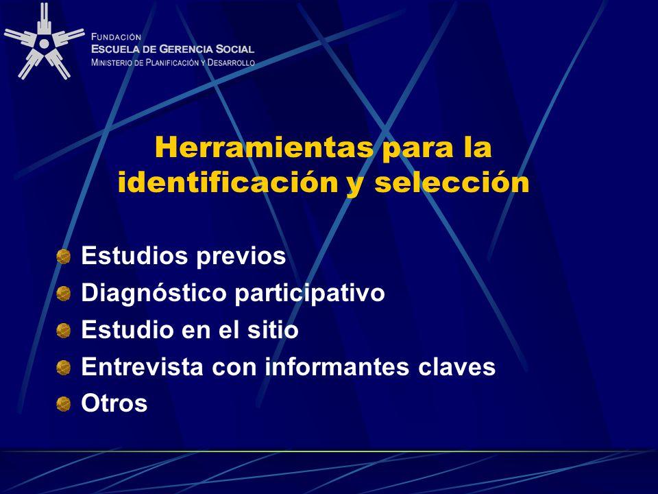 Herramientas para la identificación y selección