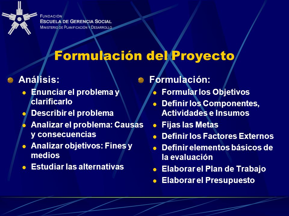 Formulación del Proyecto