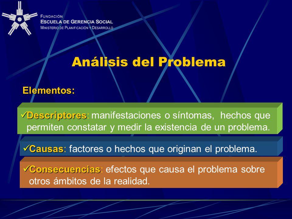 Análisis del Problema Elementos:
