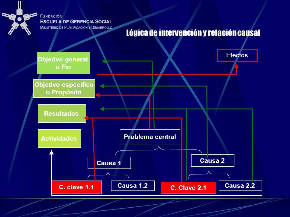 Lógica de intervención y relación causal
