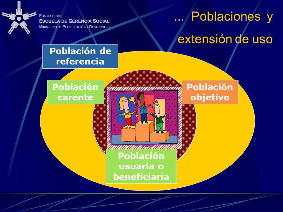 Población de referencia Población usuaria o beneficiaria