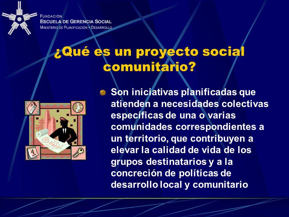 ¿Qué es un proyecto social comunitario