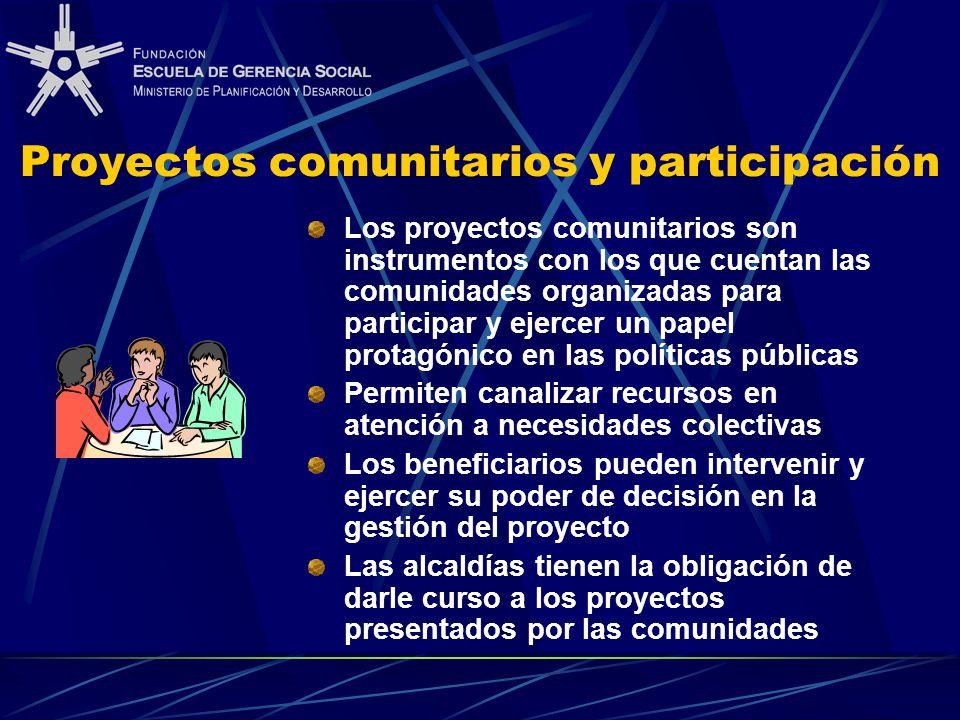 Proyectos comunitarios y participación