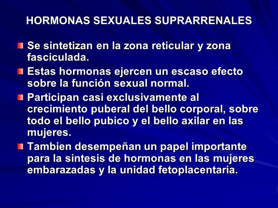 HORMONAS SEXUALES SUPRARRENALES