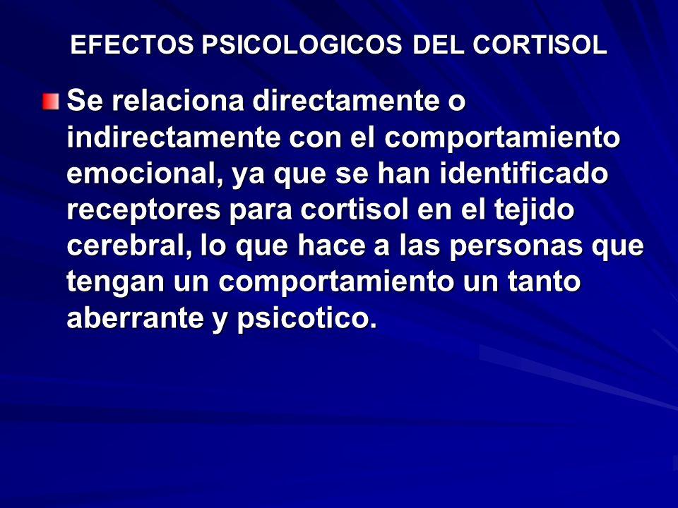 EFECTOS PSICOLOGICOS DEL CORTISOL