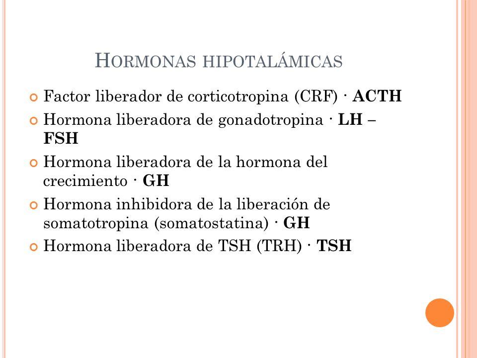 Hormonas hipotalámicas