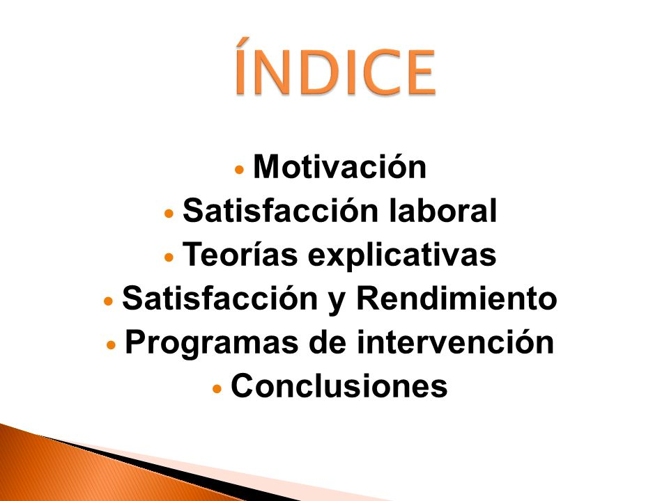 Satisfacción y Rendimiento Programas de intervención