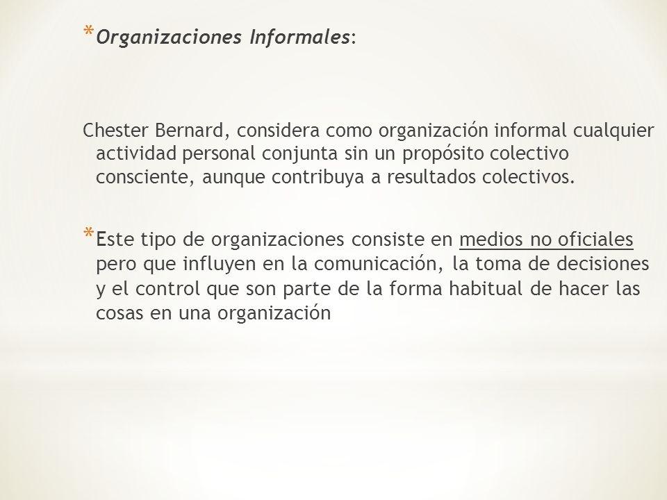 Organizaciones Informales: