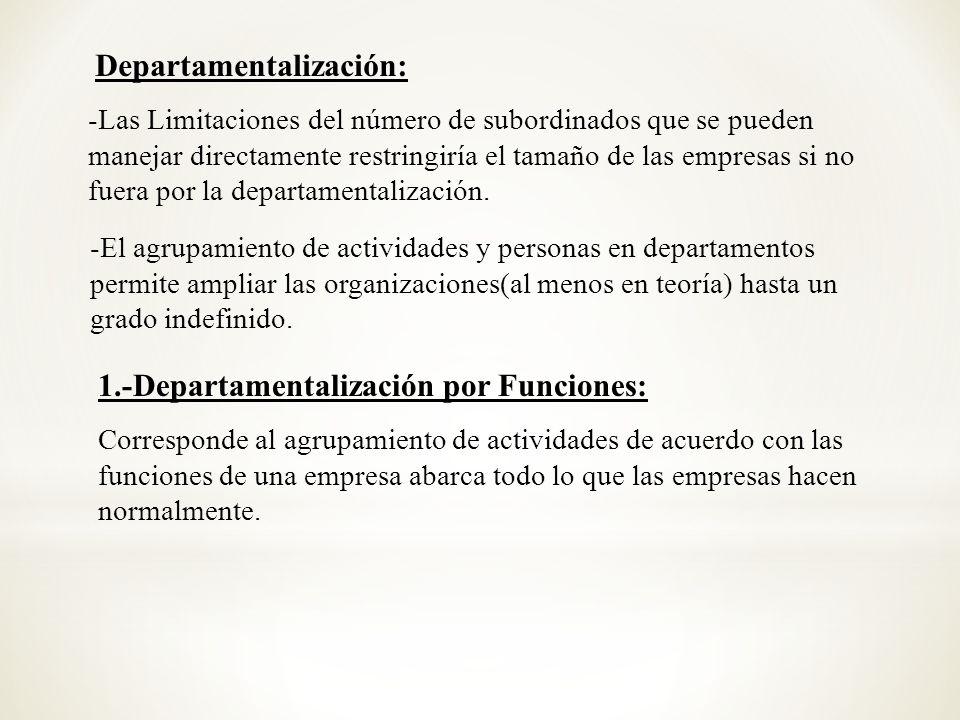 Departamentalización: