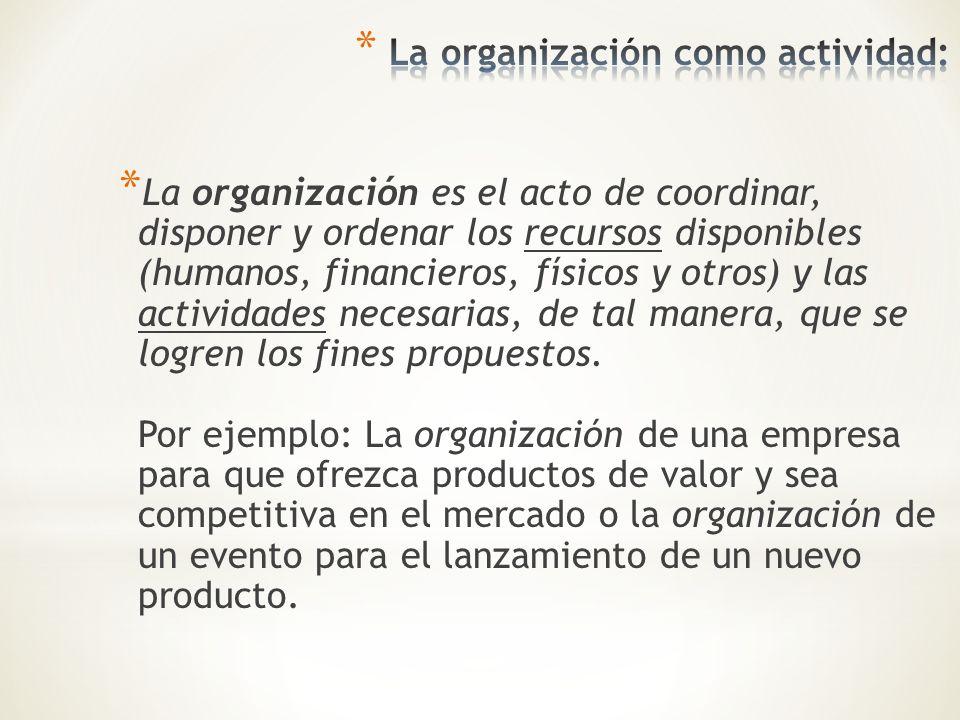 La organización como actividad: