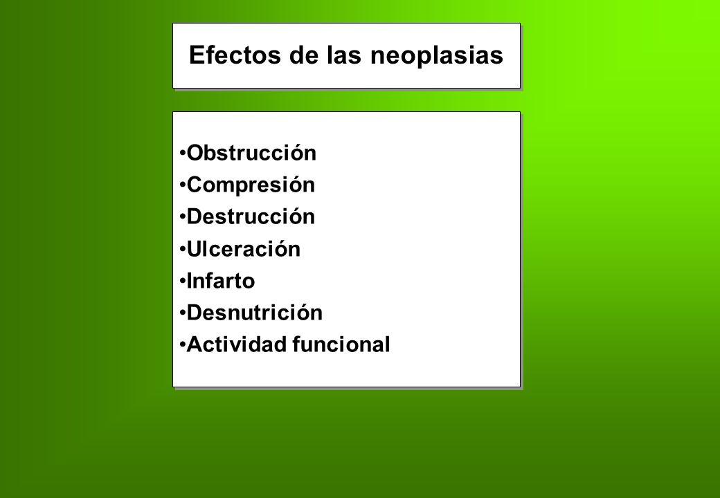 Efectos de las neoplasias
