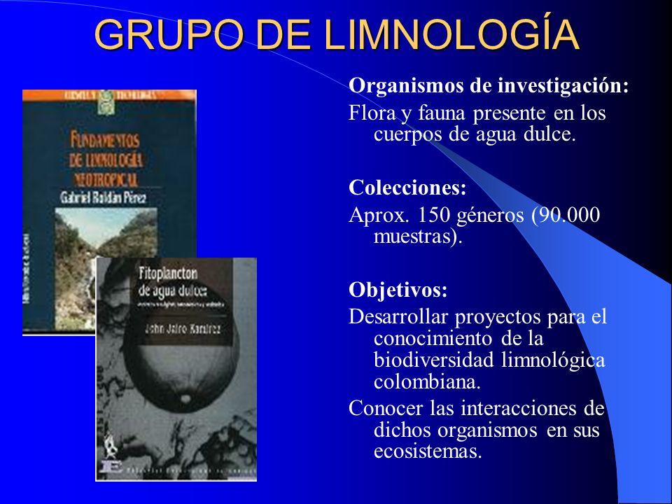 GRUPO DE LIMNOLOGÍA Organismos de investigación: