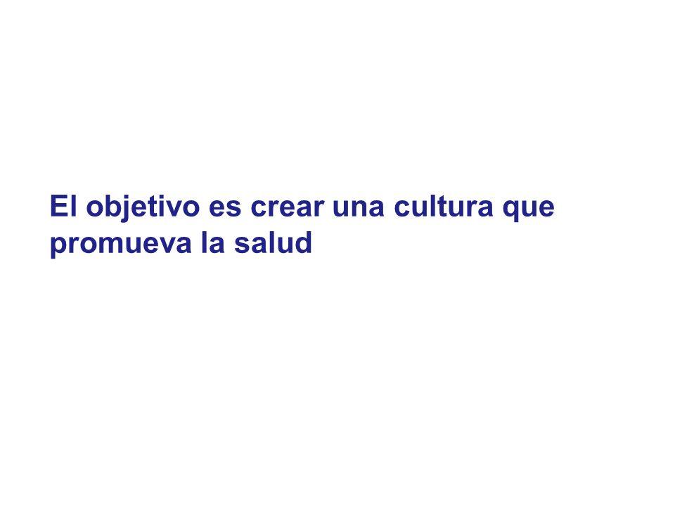 El objetivo es crear una cultura que promueva la salud