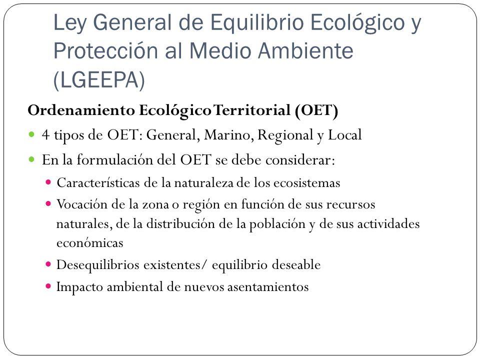 Ley General de Equilibrio Ecológico y Protección al Medio Ambiente (LGEEPA)
