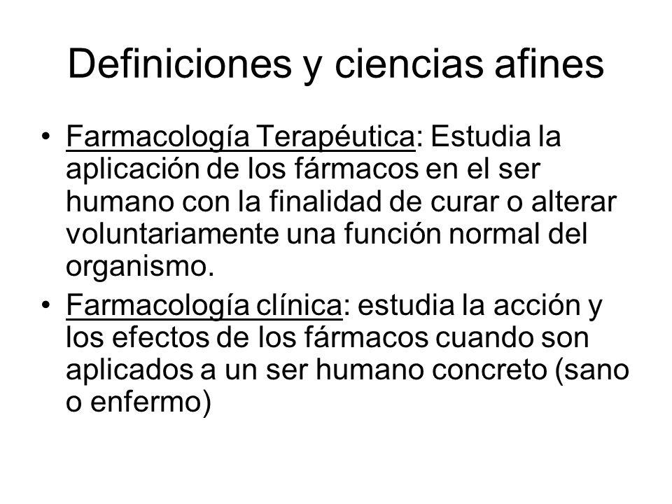 Definiciones y ciencias afines