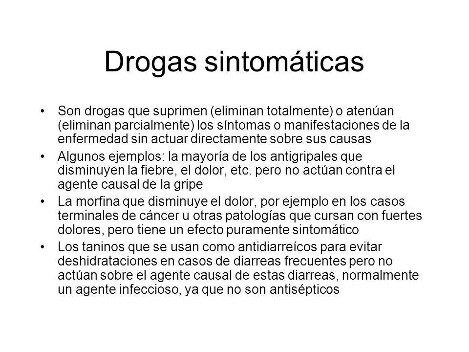 Drogas sintomáticas