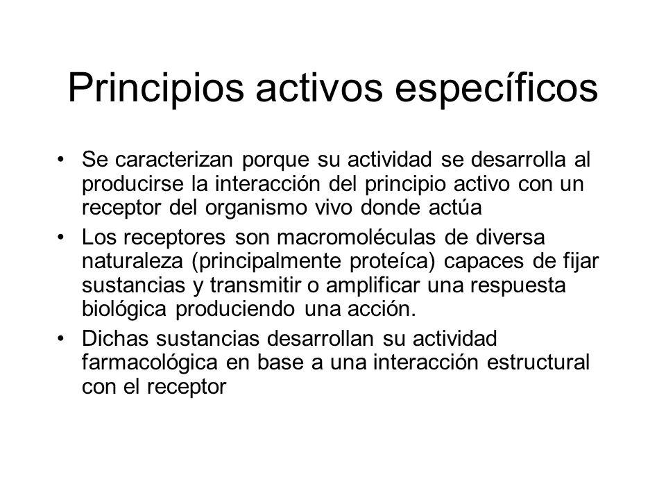 Principios activos específicos