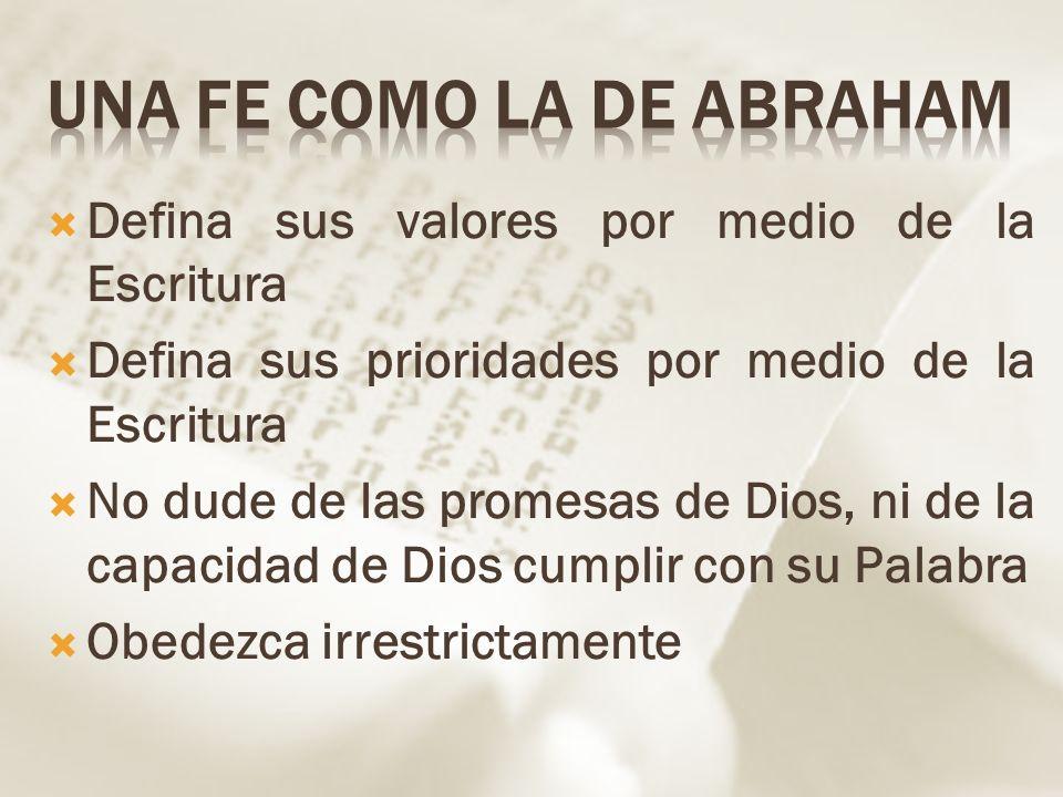 Una fe como la de Abraham