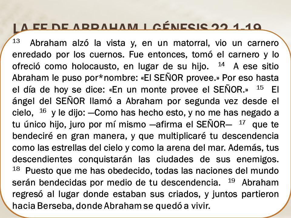 La fe de Abraham | Génesis 22.1-19