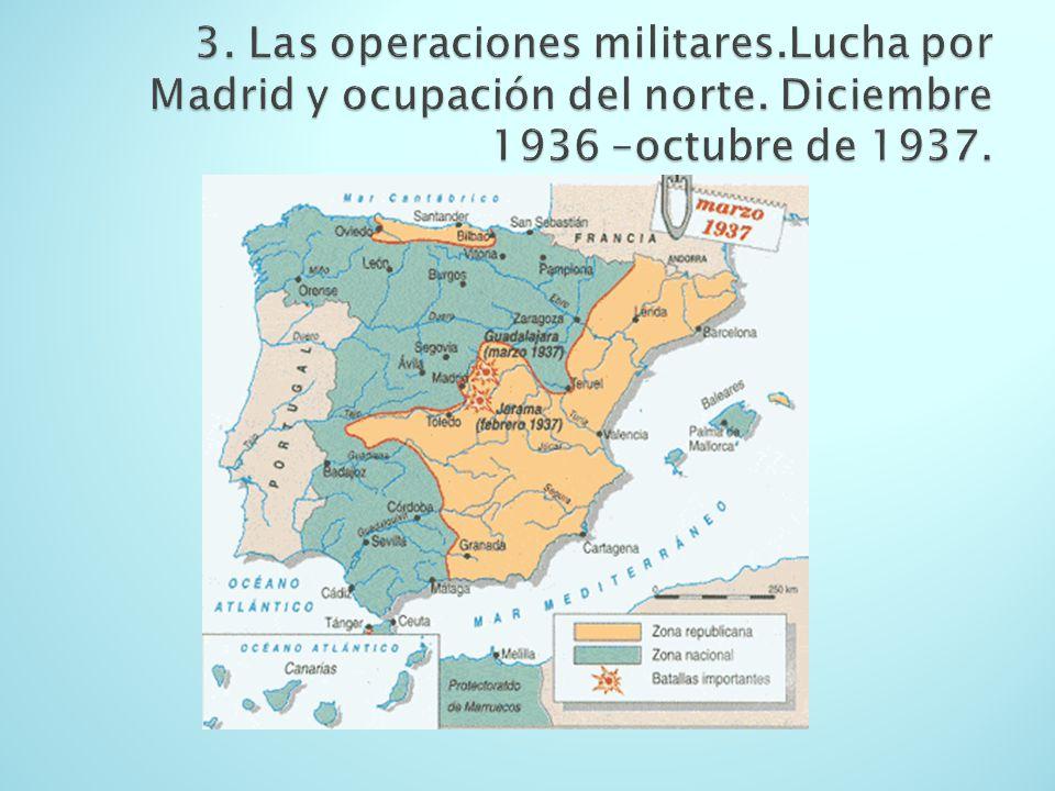 3. Las operaciones militares. Lucha por Madrid y ocupación del norte