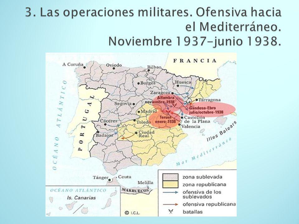 3. Las operaciones militares. Ofensiva hacia el Mediterráneo