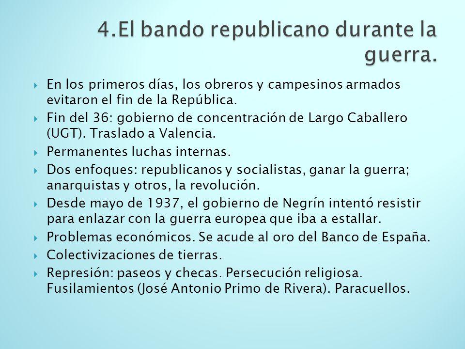 4.El bando republicano durante la guerra.