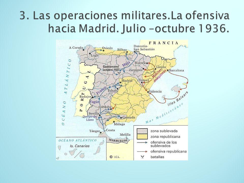 3. Las operaciones militares. La ofensiva hacia Madrid