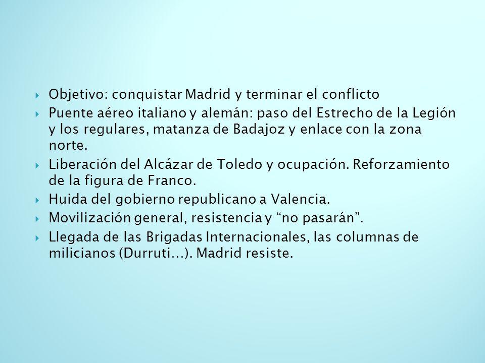 Objetivo: conquistar Madrid y terminar el conflicto